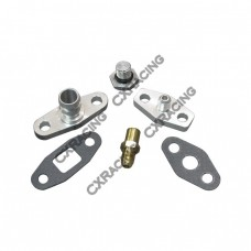 Turbo Oil / Water Line Feed Drain Fitting Kit For RB20/25DET RB20 RB25 240SX Skyline S13 S14