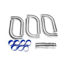 "2.5"" ALUM Piping Kit for Civic VW Golf Jetta GTI"