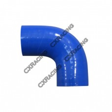 """1.5"""" 90 Degree 65mm Enforced Universal Blue Silicon Elbow Hose"""