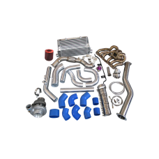 Turbo Intercooler Kit Manifold Downpipe For 98-05 Lexus IS300 2JZ-GE NA-T