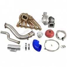 Single Turbo Manifold Downpipe Kit for 2JZGTE 08-16 Genesis Coupe Swap