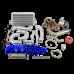 Single Turbo Intercooler Downpipe Kit for 2JZGTE 08-16 Genesis Coupe Swap