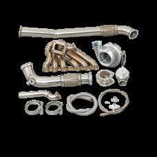2JZGTE Single Turbo Manifold Downpipe Kit for RX7 FC Swap