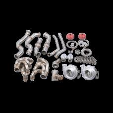 Twin Turbo Manifold Downpipe For 60-66 Chevy C10 Truck BBC Big Block 396 402 427 454