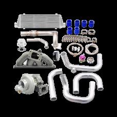 Turbo Manifold Downpipe Intercooler For 94-00 Integra 92-00 Civic B18 B20 Engine