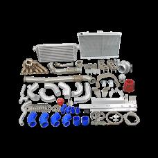 2JZGTE Single Turbo Kit With Intercooler Radiator Kit for RX7 FC Swap