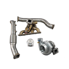 Top Mount GT35 Turbo Manifold Downpipe Kit For 08+ Genesis Coup 2.0T GC