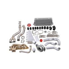 Turbo Intake Manifold Downpipe Intercooler Kit For BMW E46 M3 S54 Engine 600+ HP
