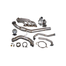 GT35 Turbo Manifold Downpipe Kit for Civic Integra DC5 RSX K20 Sidewinder