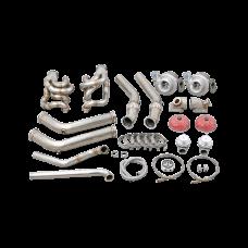 LS1 Twin Turbo WG Manifold Header Kit For 60-66 Chevrolet C10 Truck LSx LQ