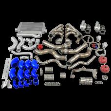 Twin Turbo Manifold Header Intercooler Kit for 67-69 Chevrolet Camaro LS1 Engine