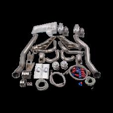 LS1 Twin Turbo Manifold Kit Motor Mounts Oil Pan For 63-65 Chevrolet Chevelle LSx