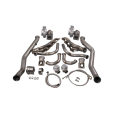 Twin Turbo Manifold Header Downpipe Kit For 63-65 Chevrolet Chevelle LS1/LSx Swap