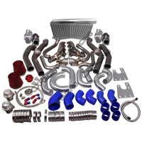 Twin Turbo Header Intercooler Kit For G-Body LS1 LS Motor Cutlass Grand National Monte Carlo
