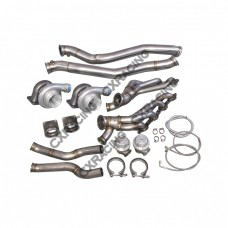 Twin Turbo Manifold Downpipe Kit for 86-92 Supra MK3 LS1 T56 Swap GT35