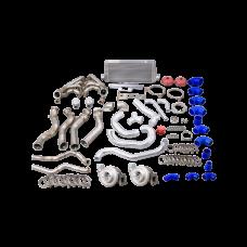 Twin Turbo Manifold Downpipe Intercooler Kit For 68-74 Chevrolet Nova LS1 Engine