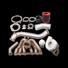 T70 Turbo Manifold kit for Toyota 1JZGTE S13 GS300 SC300 Supra MK3