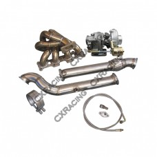 Turbo Manifold DownPipe Kit For Mazda Miata MX-5 1.8L NA-T T3 Top Mount