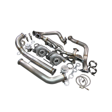 Twin Turbo Kit For 79-93 Ford FoxBody Mustang 5.0L Dual T04E 700 HP