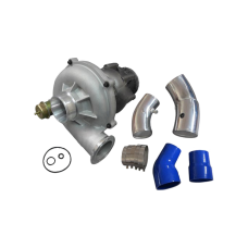 """GTP38 Turbo Charger Adjustable Vent + O-Rings 4"""" 5"""" Air Intake Pipe for 99-03 Ford Super Duty 7.3L PowerStroke Diesel"""