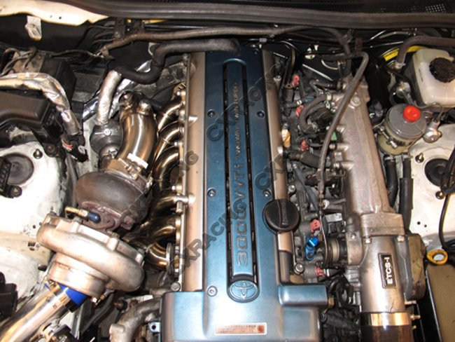 Manifold Downpipe WG Dump Tube For 2JZ-GTE Lexus IS300 Swap