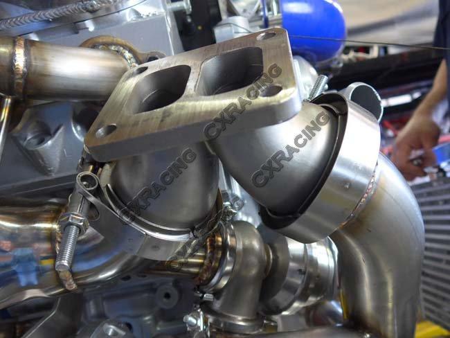 Universal Single Turbo Manifold Header For LS1 LSx Engine S13 S14
