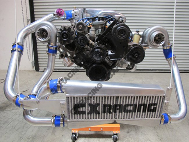Twin Turbo DIY Manifold Header For Ford Fox Body Mustang 5 0L